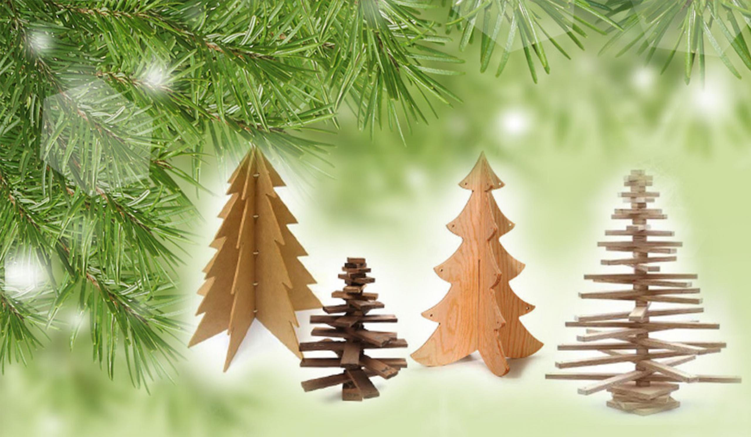 Cómo construir un árbol de Navidad de madera