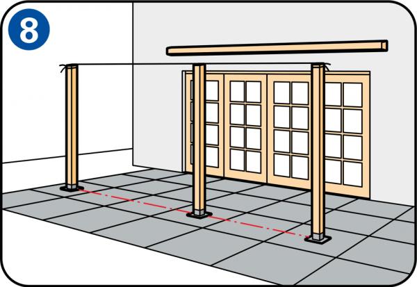 poste central del porche